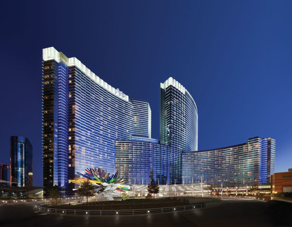 The Las Vegas Aria Resort where the Annual MSL Society is being held.