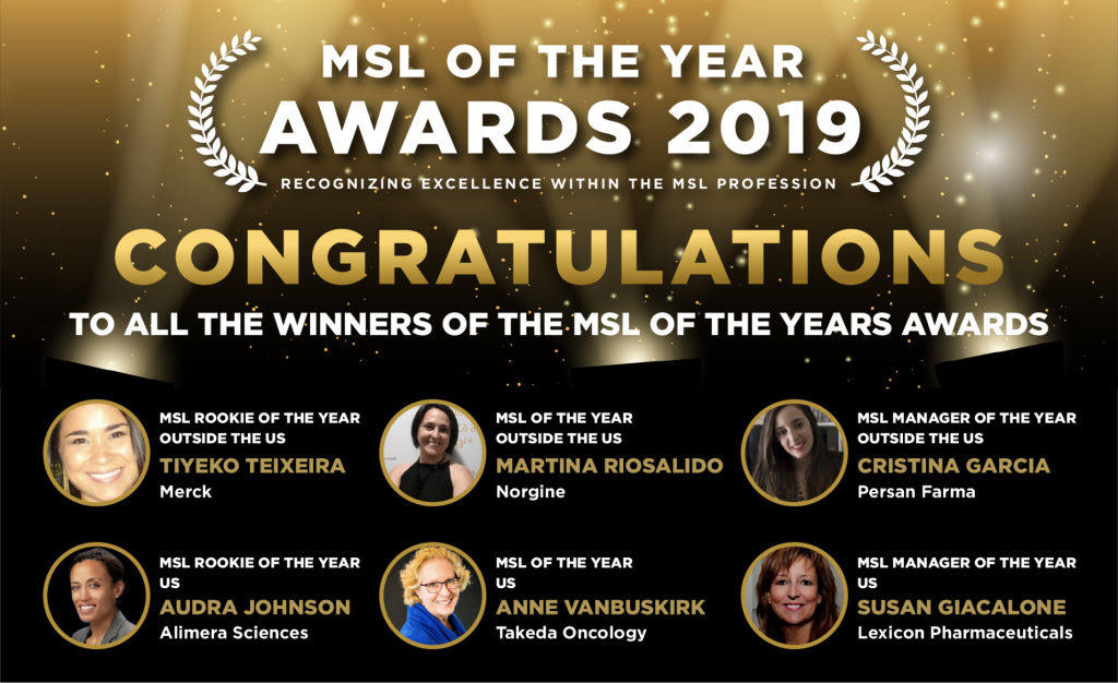MSL of the year award winners 2019.