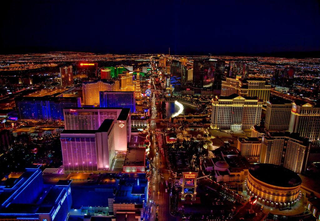 Las Vegas, the city where the MSL Society conference is being held, at night.