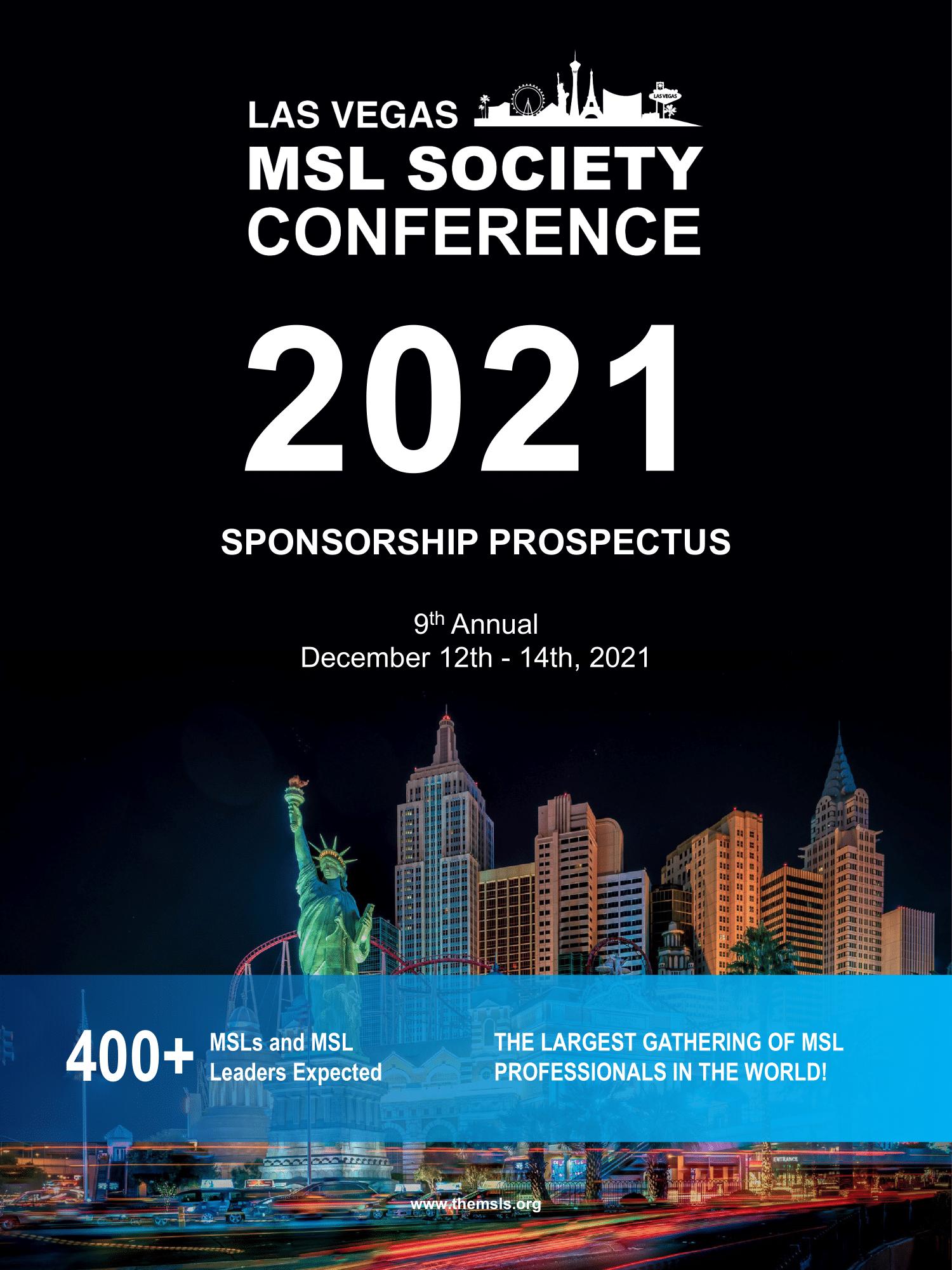 9th Annual MSL Society Conference 2021 in Las Vegas - Sponsorship Prospectus